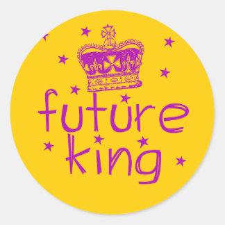 Rey futuro Cute Royalty Tshirt Pegatina Redonda