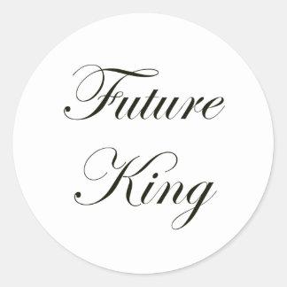Rey futuro pegatina redonda