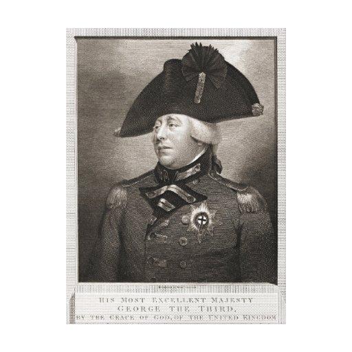 Rey George III 1810 Lienzo Envuelto Para Galerias