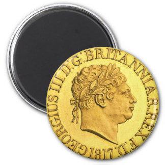 Rey George III de Gran Bretaña Imán Redondo 5 Cm