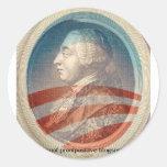 Rey George Obama III Etiqueta Redonda