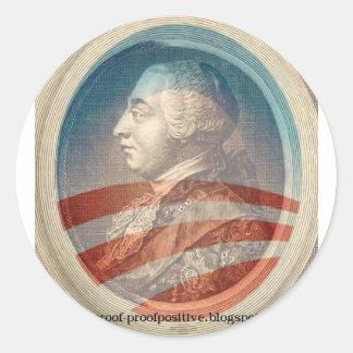 Rey George Obama III Etiquetas Redondas