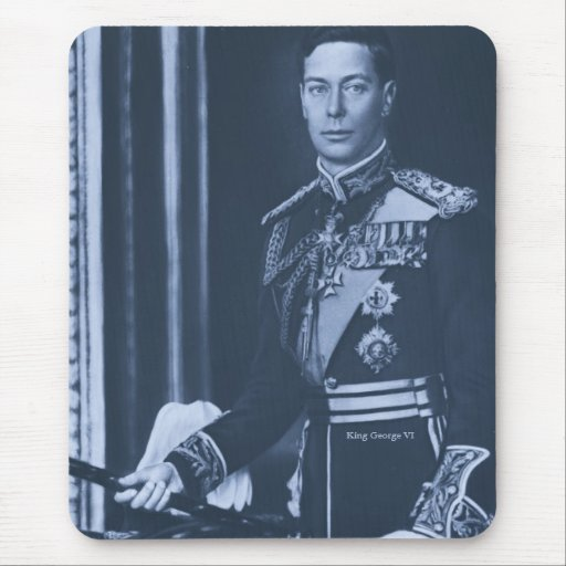 Rey George VI del Reino Unido Tapetes De Raton