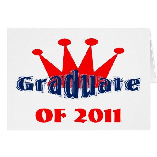 Rey graduado tarjeta de felicitación