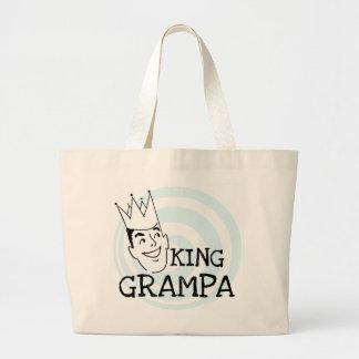 Rey Grampa T-shirts y regalos Bolsa Tela Grande