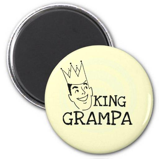 Rey Grampa T-shirts y regalos Imán Para Frigorífico