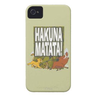 ¡Rey Hakuna Matata del león de Disney! Case-Mate iPhone 4 Protectores