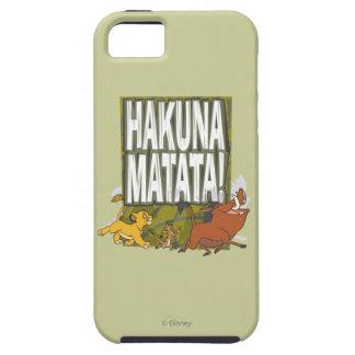 ¡Rey Hakuna Matata del león de Disney! iPhone 5 Case-Mate Protectores