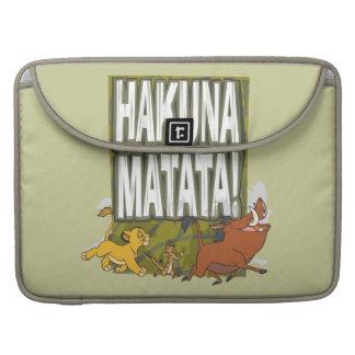 ¡Rey Hakuna Matata del león de Disney! Funda Para Macbooks