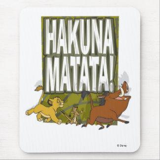 ¡Rey Hakuna Matata del león de Disney! Alfombrilla De Ratón