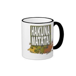 ¡Rey Hakuna Matata del león de Disney! Taza De Café
