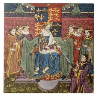 Rey Henry VI (1421-71) que presenta una espada a J Azulejo