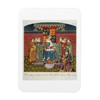 Rey Henry VI (1421-71) que presenta una espada a J Imán Rectangular