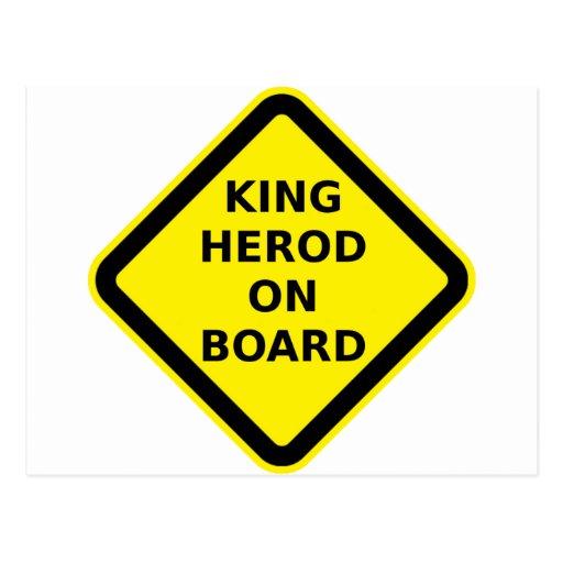 Rey Herod a bordo Postal