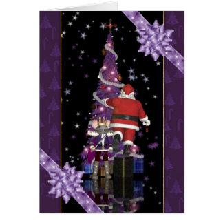 Rey Holiday del ratón del cascanueces de Santa de Tarjeta De Felicitación