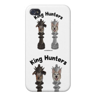 Rey Hunters Dogs del ajedrez iPhone 4 Protectores