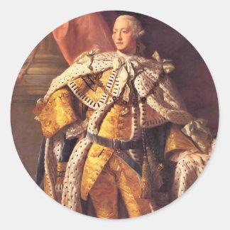 Rey inglés George III por el estudio de Allan Pegatina Redonda