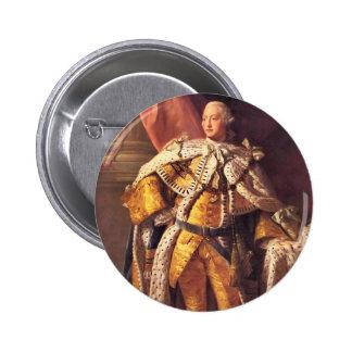 Rey inglés George III por el estudio de Allan Pin Redondo De 2 Pulgadas
