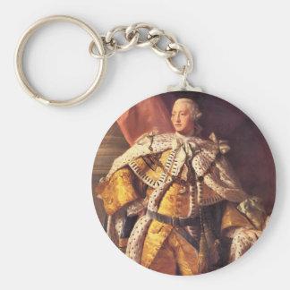 Rey inglés George III por el estudio de Allan Rams Llavero Redondo Tipo Pin