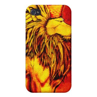Rey iP4 del león iPhone 4 Funda