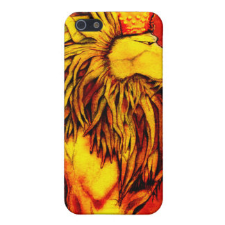 Rey iP4 del león iPhone 5 Fundas