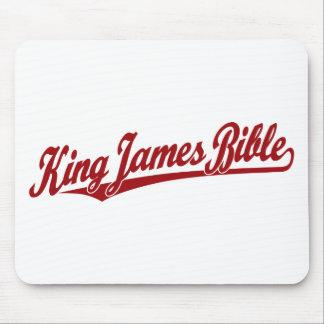 Rey James Bible Script Logo en rojo Mouse Pad