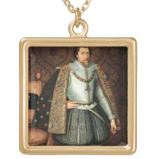Rey James I de Inglaterra (1566-1625) (aceite en l Colgante Cuadrado