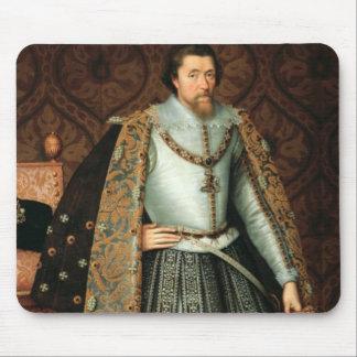 Rey James I de Inglaterra (1566-1625) (aceite en l Mousepads