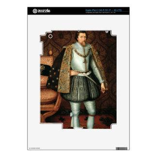 Rey James I de Inglaterra (1566-1625) (aceite en l Pegatina Skin Para iPad 3