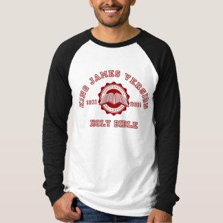 Rey James Version College Style en rojo Playeras
