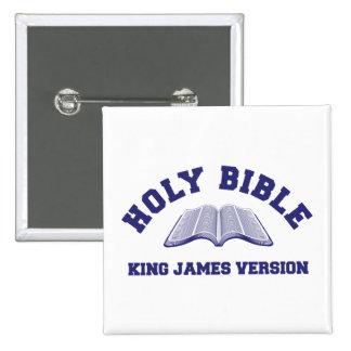 Rey James Version de la Sagrada Biblia en azul Pins