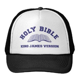 Rey James Version de la Sagrada Biblia en el azul  Gorro De Camionero