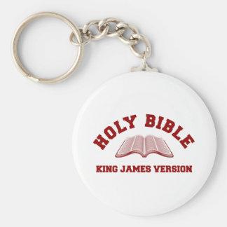 Rey James Version de la Sagrada Biblia en rojo Llavero Personalizado