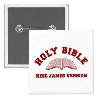 Rey James Version de la Sagrada Biblia en rojo Pins