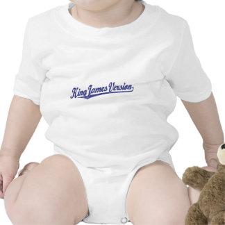 Rey James Version Script Logo en el azul apenado Trajes De Bebé