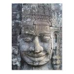 Rey Jayavarman VII del templo de Bayon Tarjeta Postal