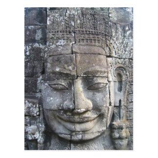 Rey Jayavarman VII del templo de Bayon Tarjetas Postales