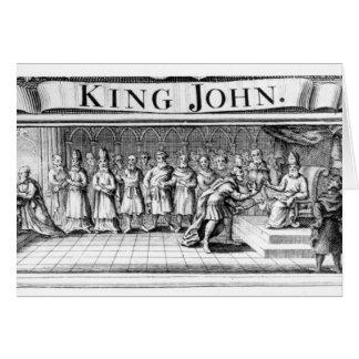 Rey Juan entrega su corona Tarjetas