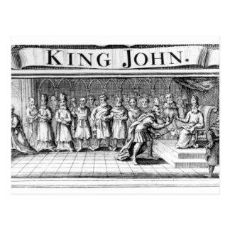 Rey Juan entrega su corona Postales