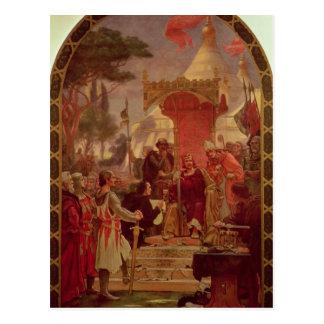 Rey Juan Granting la Carta Magna en 1215, 1900 Postal