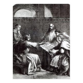Rey Juan que rechaza firmar el Charta de Magna Tarjetas Postales