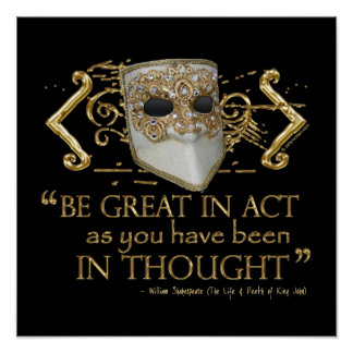Rey Juan Quote (edición del oro) Poster