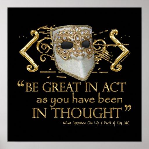 Rey Juan Quote (edición del oro) Póster