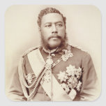 Rey Kalakaua (1836-91), último c19th (foto de la Pegatina Cuadrada