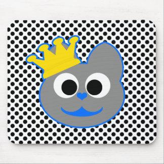 Rey Kat Blue - gris Alfombrillas De Ratón