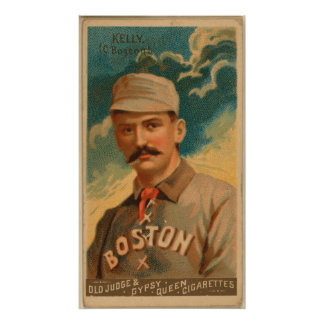Rey Kelly, Boston Beaneaters Póster