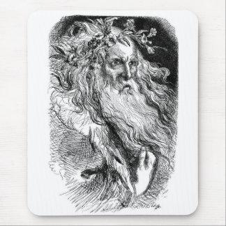 Rey Lear con las flores Alfombrilla De Ratón