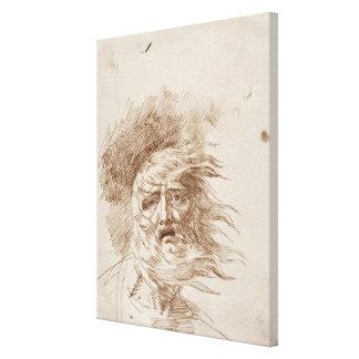 Rey Lear en la tormenta (tinta de la pluma y del b Impresiones En Lienzo Estiradas