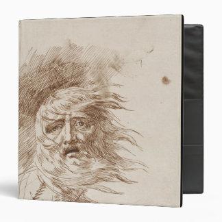 """Rey Lear en la tormenta (tinta de la pluma y del Carpeta 1 1/2"""""""