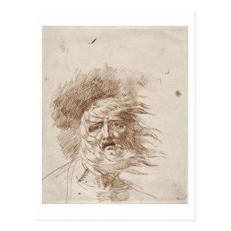 Rey Lear en la tormenta (tinta de la pluma y del Tarjetas Postales